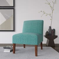 Porch & Den Los Feliz Clayton Bold Paisley Armless Accent Chair