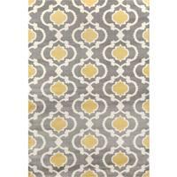 Porch & Den Marigny Touro Trellis Grey/ Yellow Area Rug - 2' x 3'