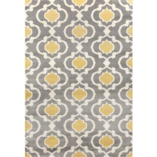 Porch & Den Marigny Touro Trellis Grey/ Yellow Area Rug - 2' x 3'