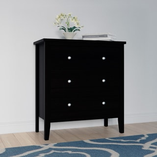 Link to Copper Grove Petun Black Wood 3-drawer Chest of Drawers Similar Items in Bedroom Furniture