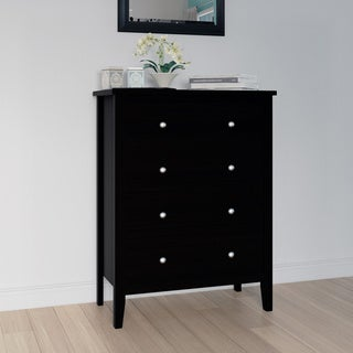 Adeptus Black Solid Wood Easy Pieces 4-drawer Chest of Drawers
