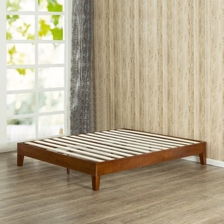 Leonidas Monticello 12-inch Deluxe Wood Full-size Platform Bed