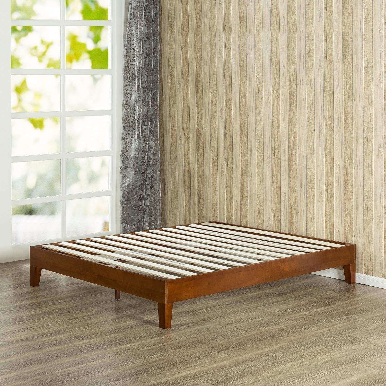 Porch U0026 Den Neron Brown Finish Wood King Size 12 Inch Profile Platform Bed