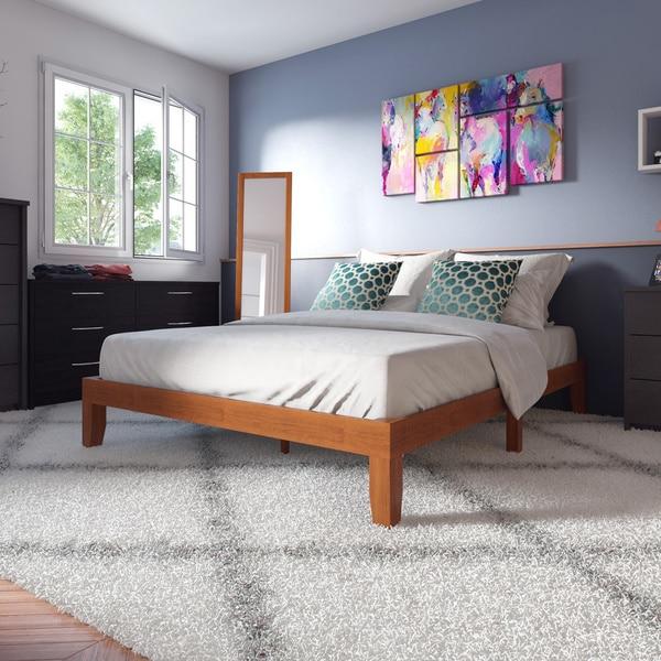 Porch & Den Leonidas Monticello 12-inch Solid Wood Queen-size Platform Bed