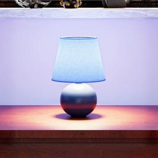 Porch & Den Delano Clarence Mini Ceramic Globe Table Lamp