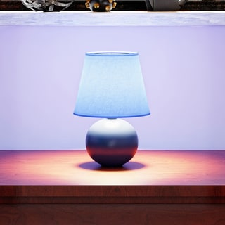 Link to Porch & Den Clarence Mini Ceramic Globe Table Lamp Similar Items in Lamp Shades