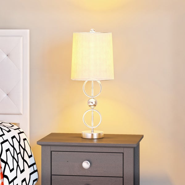Silver Orchid Velez Brushed Steel Table Lamps (Set of 2). Opens flyout.