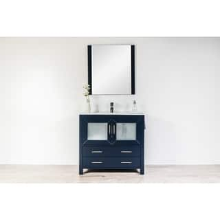 Newport Collection 36 inches in Navy w/ Integrated Sink and Niagara Falls Chrome Faucet|https://ak1.ostkcdn.com/images/products/18116639/P24271423.jpg?impolicy=medium