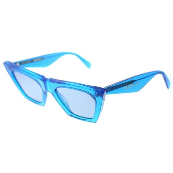 5c34950e2ead Celine Cat Eye CL 41468 GEG Womens Transparent Blue Frame Blue Lens  Sunglasses