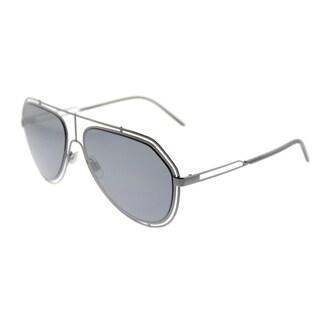 Dolce & Gabbana Aviator DG 2176 04/6G Unisex Gunmetal Frame Grey Mirror Lens Sunglasses