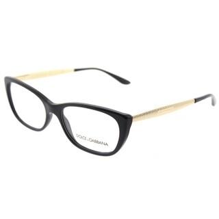 Dolce & Gabbana Cat Eye DG 3279 501 Womens Black Frame Eyeglasses