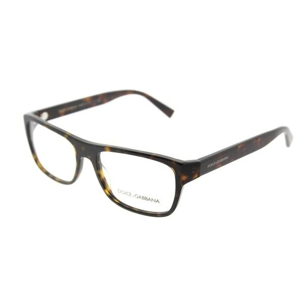 dolce gabbana rectangle dg 3276 501 unisex black frame eyeglasses - Dolce And Gabbana Glasses Frames