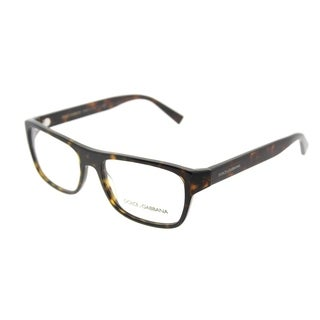 Dolce & Gabbana Rectangle DG 3276 501 Unisex Black Frame Eyeglasses