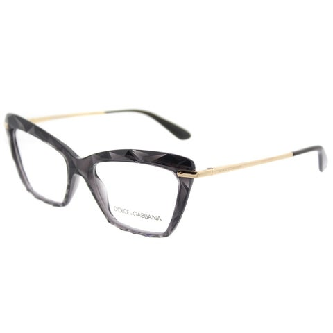 Dolce & Gabbana Cat Eye DG 5025 504 Womens Transparent Grey Frame Eyeglasses