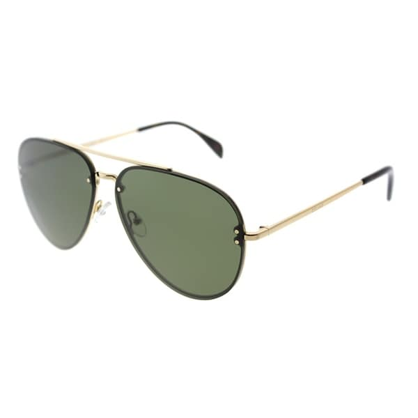 1b5ff8ee4 Celine Aviator CL 41391 J5G 1E Womens Gold Frame Green Lens Sunglasses