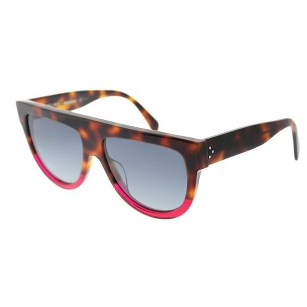 03e8b78a46b Celine Fashion CL 41026 23A Womens Havana Fuchsia Frame Grey Gradient Lens  Sunglasses