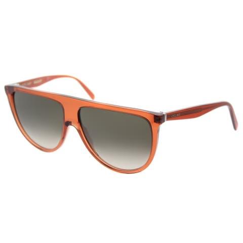 400b9ea8f895 Celine Round CL 41435 EFB Womens Dark Orange Frame Brown Degrade Lens  Sunglasses