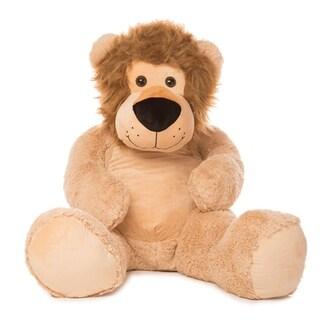 "Best Made Toys 55"" Jumbo Lion Giant Plush Animal - Over 4 feet tall!"
