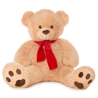 """Best Made Toys 50"""" Bear with Scarf Giant Plush Animal - Over 4 feet tall!"""