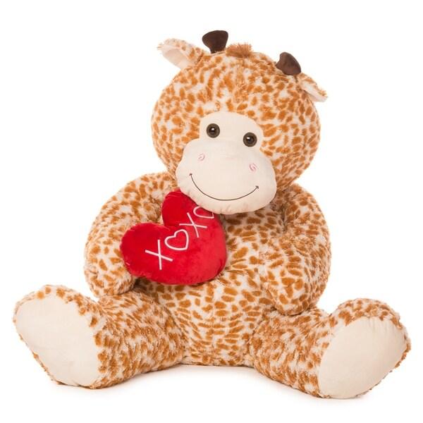 """Best Made Toys 55"""" Jumbo Giraffe Giant Plush Animal - Over 4 feet tall!"""