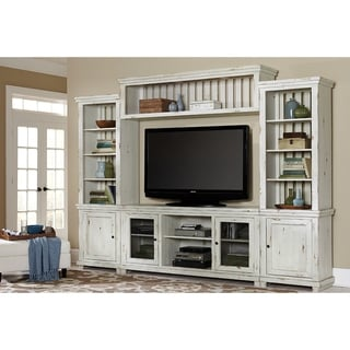 Progressive Willow Distressed White Pine Complete Wall Unit