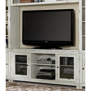 Progessive Willow Distressed Finish White Pine 68-Inch Entertainment Console