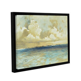 Thomas Moran's Bahama island Light, Gallery Wrapped Floater-framed Canvas