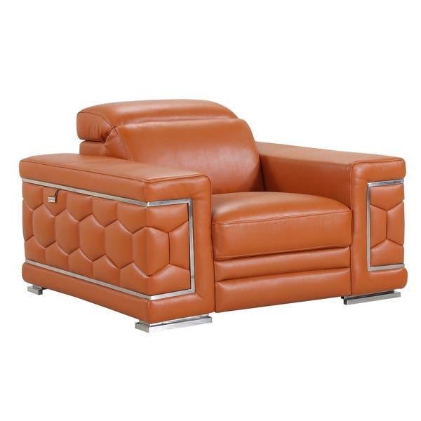 Shop DivanItalia Ferrara Luxury Italian Leather Upholstered ...