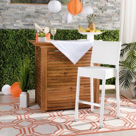 Safavieh Bethel Indoor-Outdoor White 30-inch Barstool