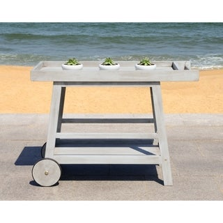 "Safavieh Outdoor Living Remzo Grey Wash Bar Cart - 48"" x 20"" x 31.9"""