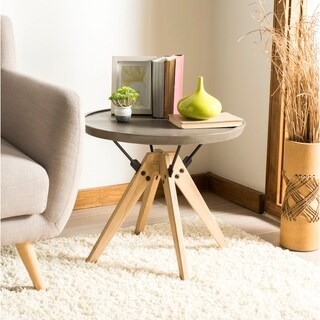 Safavieh Outdoor Living Farmond Modern Dark Grey Side Table