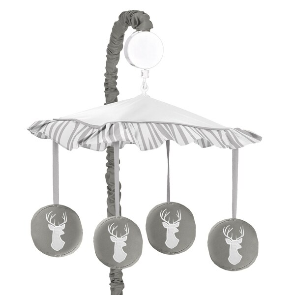 Sweet Jojo Designs Musical Mobile for the Grey and White Woodsy Collection