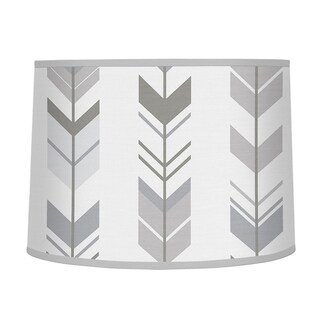 Sweet Jojo Designs Large Lamp Shade for the Grey and White Mod Arrow Collection