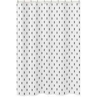 Sweet Jojo Designs Black and White Triangle Tree Print Shower Curtain for the Bear Mountain Collection