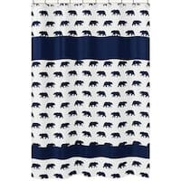 Sweet Jojo Designs Bear Print Shower Curtain for the Big Bear Collection