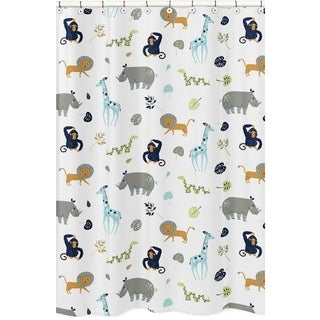 Sweet Jojo Designs Shower Curtain for the Mod Jungle Collection