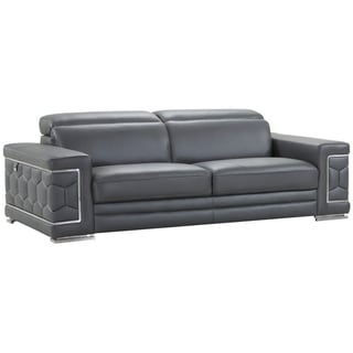 Link to DivanItalia Ferrara Luxury Italian Leather Upholstered Living Room Sofa Similar Items in Sofas & Couches