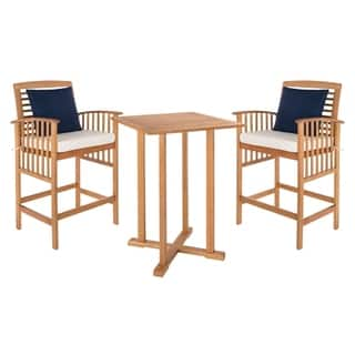 Safavieh Outdoor Living Pate 3-Piece Teak-Colored/ White Bar Table Bistro Set (39.8-Inches)|https://ak1.ostkcdn.com/images/products/18118217/P24272758.jpg?impolicy=medium