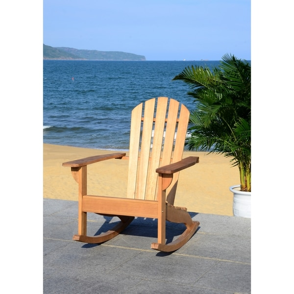 Safavieh Brizio Adirondack Teak Colored Rocking Chair