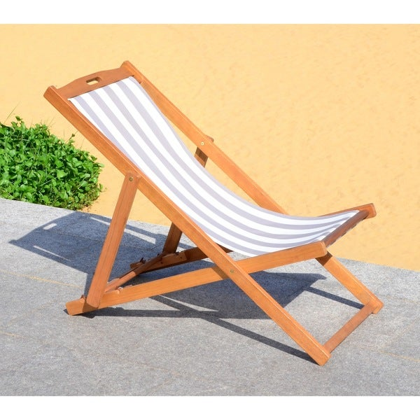 Safavieh LorenNatural/Grey Foldable Sling Chair
