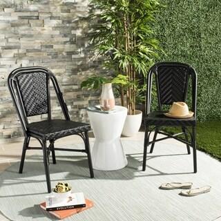 Safavieh Daria Stacking Black Side Chair (Set of 2)