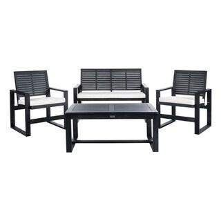 Safavieh Ozark Outdoor 4-Piece Black Wash Living Set