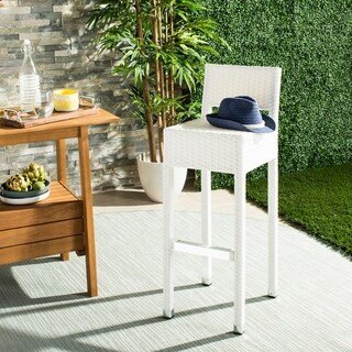 Safavieh Landry Indoor-Outdoor Stacking White 30-inch Counter Stool