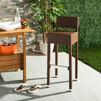 "Safavieh Landry Indoor-Outdoor Stacking Brown 30-inch Counter Stool - 13"" x 18"" x 38"""