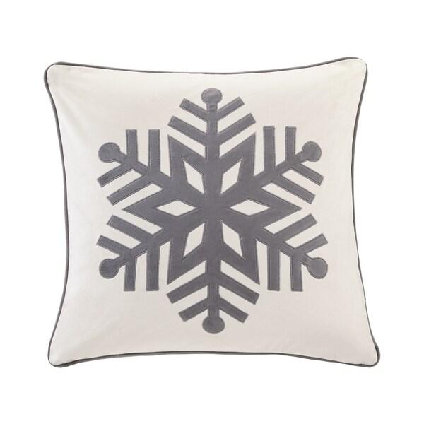 Shop Madison Park Velvet Snowflake Ivory 40inch Square Embroidered Gorgeous Madison Square Decorative Pillow