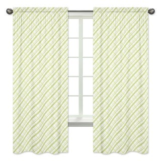 Sweet Jojo Designs Plaid Print 84-inch Window Curtain Panel Pair for the Leap Frog Collection