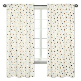 Sweet Jojo Designs Animal Print 84-inch Window Curtain Panel Pair for the Jungle Time Collection