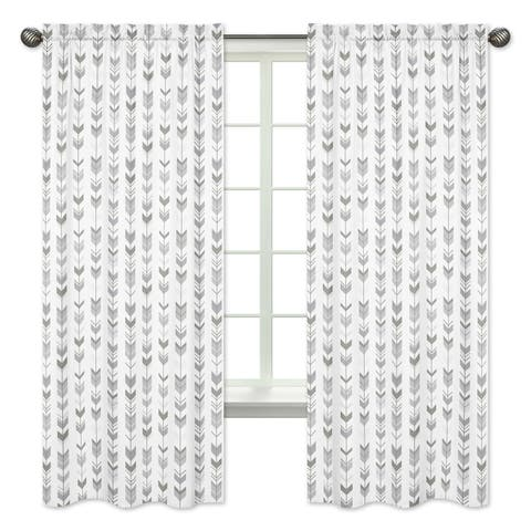 Sweet Jojo Designs 84 Inch Window Curtain Panel Pair For The Grey And White Mod