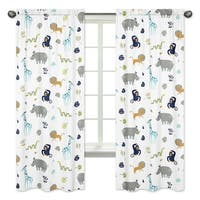Sweet Jojo Designs 84-inch Window Curtain Panel Pair for the Mod Jungle Collection