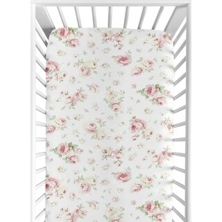 Sweet Jojo Designs Fitted Crib Sheet for the Riley's Roses Collection